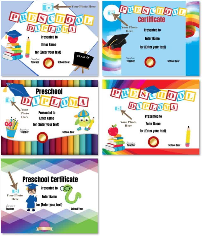 Preschool Certificates For Preschool Graduation Certificate Template Free