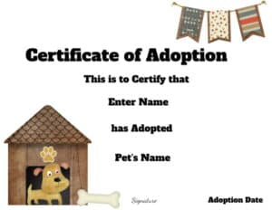 Printable adoption papers for dogs