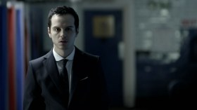 Jim Moriarty (Andrew Scott) in Sherlock (photo courtesy of azrael-west.com)