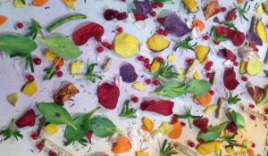Creative Chef's edible paintings