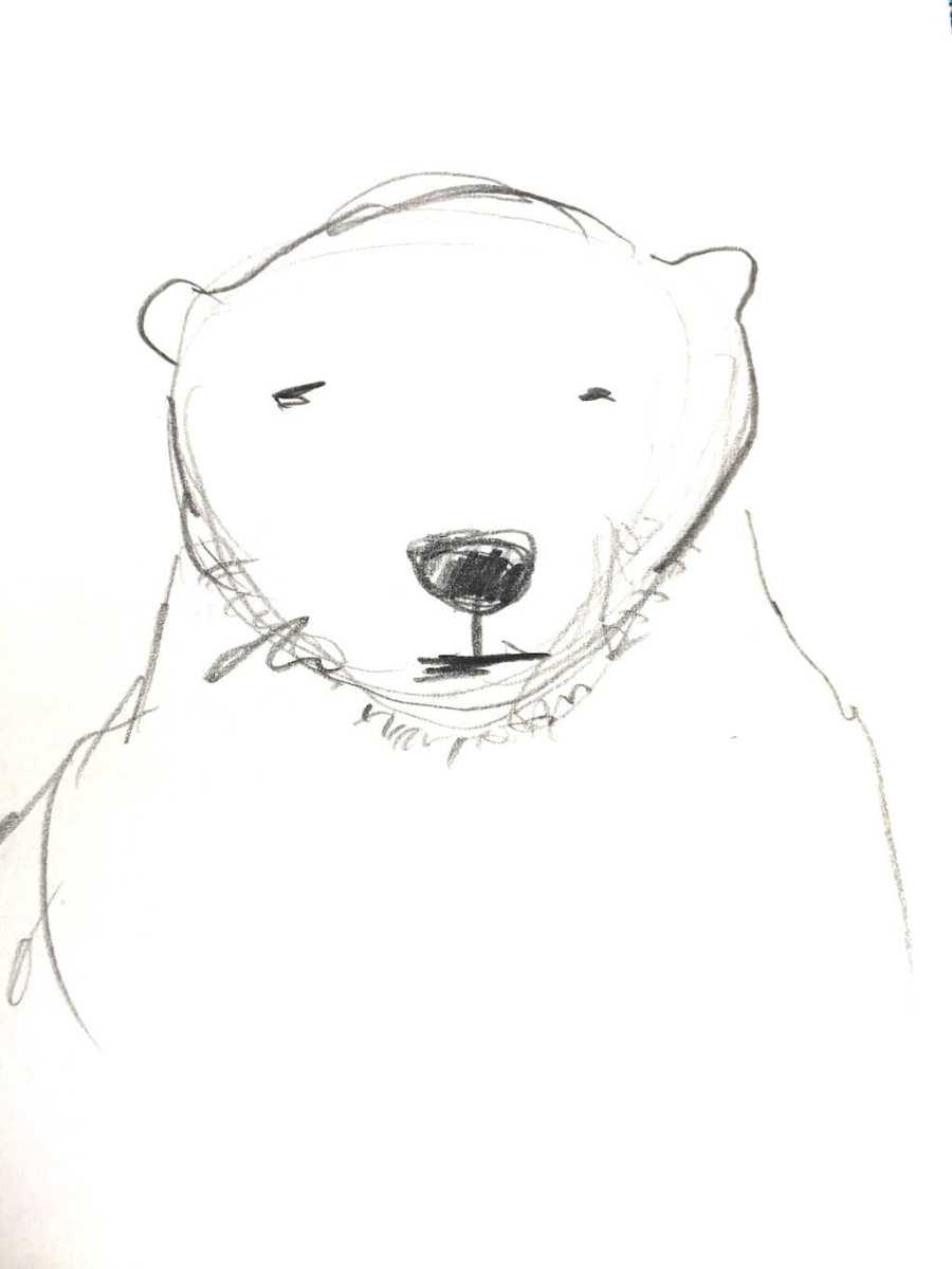Bleistift-Skizze: Bär
