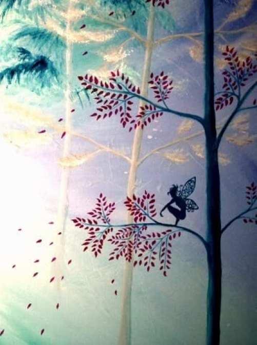 Du siehst hier ein Detail des Acrylbildes Infinite