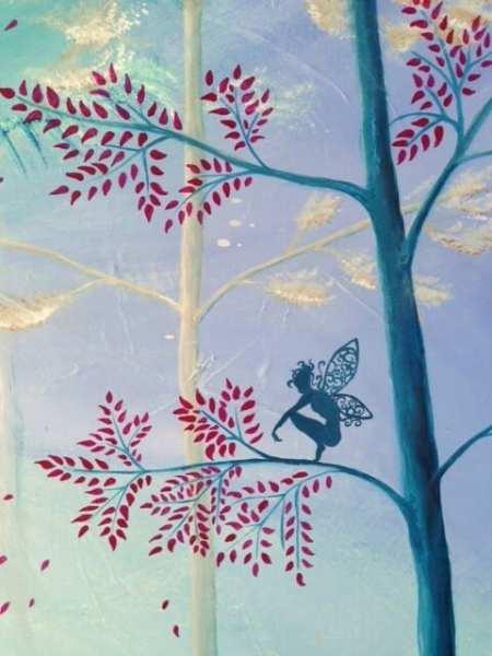 Du siehst ein Detail aus dem Acrylbild Infinity von Dodo Kresse