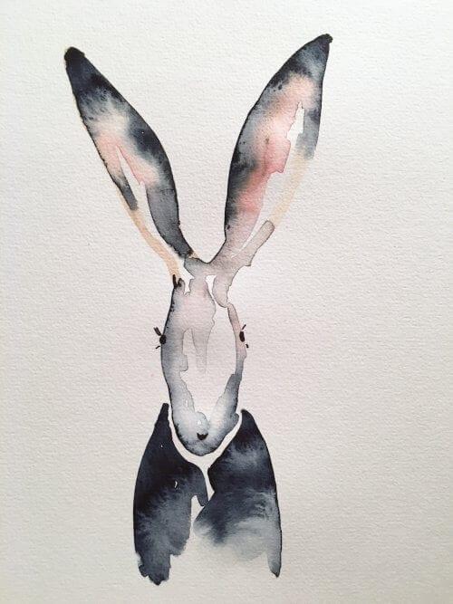 Der Hase von Welt trägt Elfenbeinschwarz!