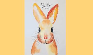 Watercolor: Osterhase in neun einfachen Schritten