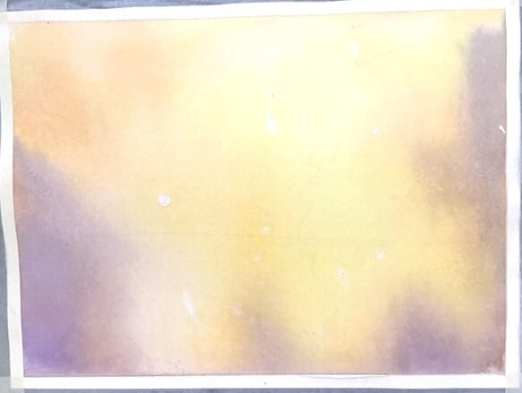 Licht Aquarell zum Trocknen aufgelegt