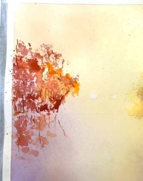 du siehst ein detail des aquarell im licht baden