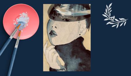 Du siehst das Coverbild zum Blogartikel Portrait Zeichnen mit Aquarellfarbe kolorien