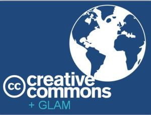 Graphic depicting Powerpoint presentation for Creative Commons + GLAM Resource Kit