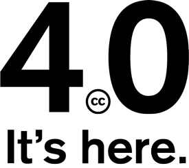 Creative Commons 4.0 is here