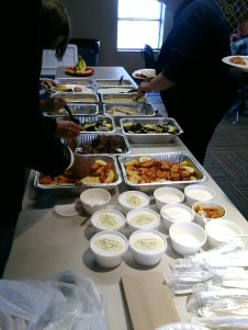 Lunch was an opportunity to sample local restaurants that cater beyond delivery pizza to provide better nutrition at community functions.