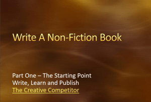 Write A Non-Fiction Book