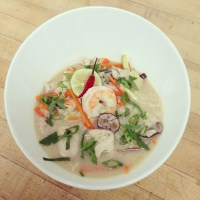 Spicy Thai Coconut Soup with Shrimp and Chicken