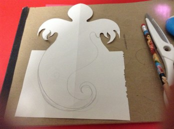 ghost shape cut out - step 2