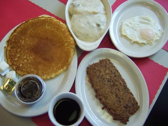 Howie's Diner - Fried Egg, Pancake, Goetta, Biscuits & Gravy, Coffee