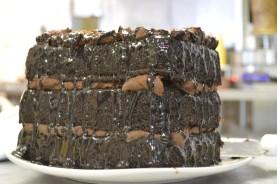 DH Athens GREEK Food Chocolate Cake Side