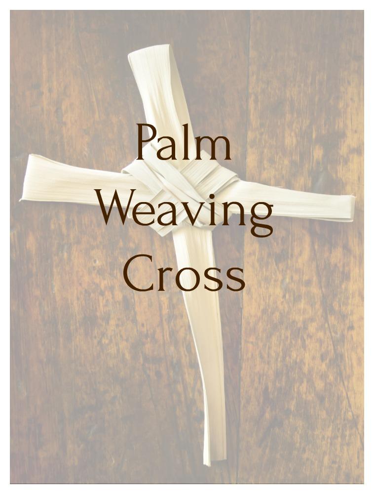 palm weaving cross