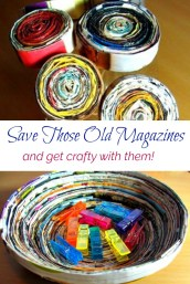 crafts you can make from magazines