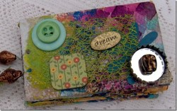 Mini Scrapbook from Toilet Paper Rolls