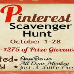 Pinterest Scavenger Hunt Begins Today!