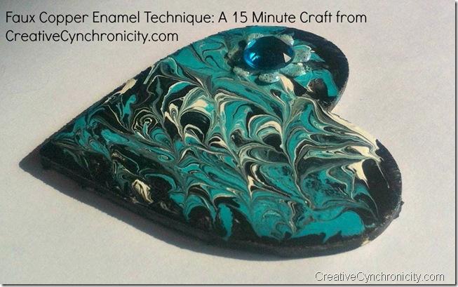 Faux Copper Enamel Technique from CreativeCynchronicity.com