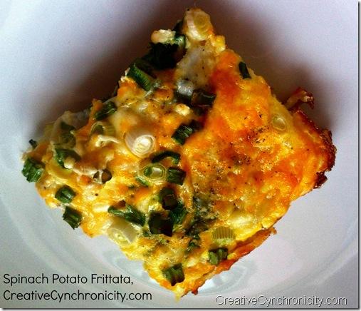 #Spinach #Potato #Frittata, CreativeCynchronicity.com