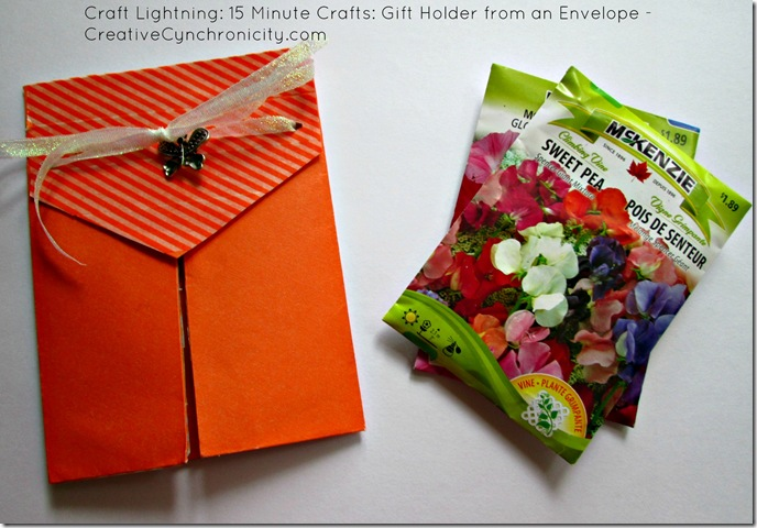 Tutorial: Make a Gift Holder from an Envelope in 15 Minutes or Less - CreativeCynchronicity.com