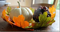 Fall Craft:  Make a Fall Leaf Bowl for Thanksgiving