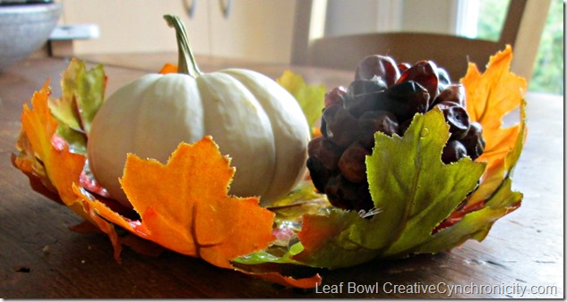 DIY Fall Leaf Bowl - Perfect for Autumn Table Settings, Thanksgiving Tablescapes