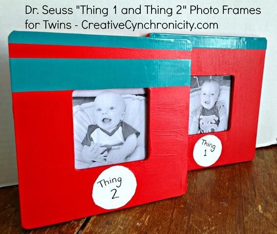 DIY Dr. Seuss Thing 1 Thing 2 Photo Frames - Creative Cynchronicity