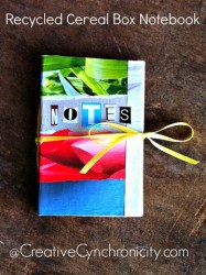 Quick and Easy Cereal Box Notebooks {Recycled Crafts Craft Lightning}