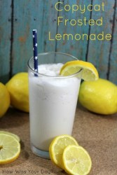 Copycat Frosted Lemonade {12 Days of BBQ and Picnic Ideas}