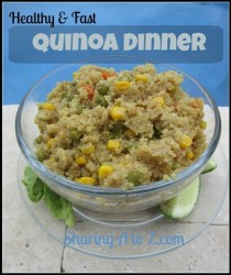 Healthy and Fast Quinoa Dinner {12 Days of Bloggers' Favorite Recipes}
