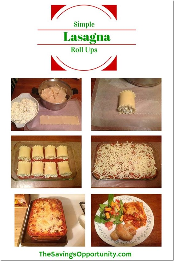 Easy Lasagna Roll Up