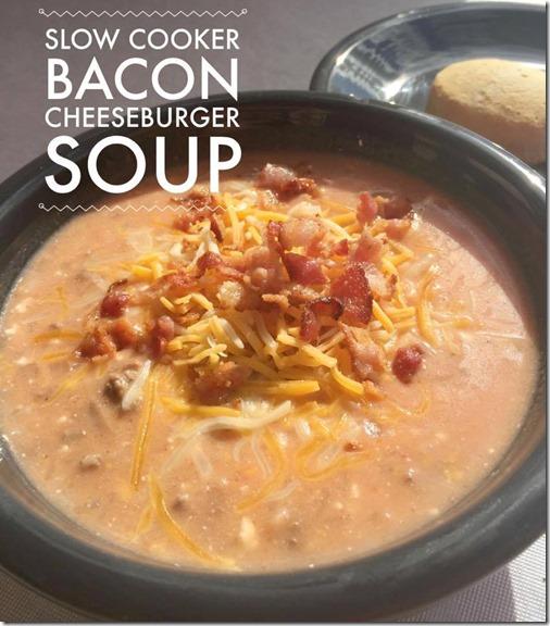 Slow Cooker Bacon Cheeseburger Soup Recipe