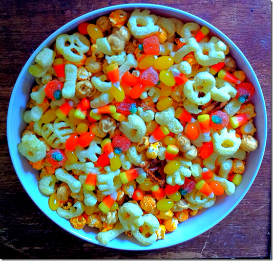Caramel Corn Halloween Snack Mix Recipe