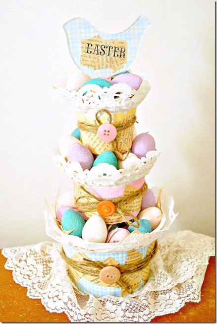 Tiered-Easter-Basket-Using-Yogurt-Cups