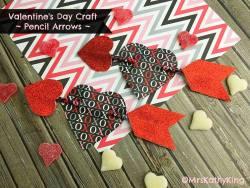 Valentine's Day Pencil Arrows