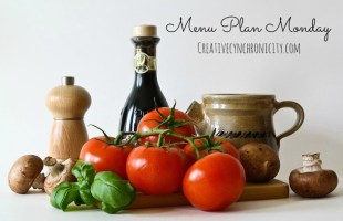Menu Plan Monday October 23