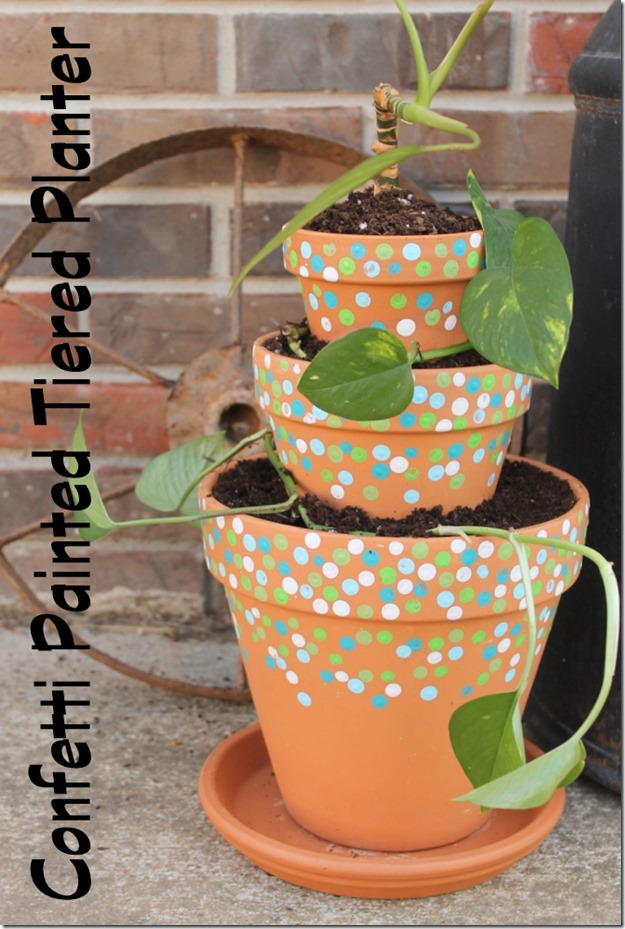 confetti-painted-tiered-planter