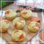 3 Cheese Savory Pizza Zucchini Muffins