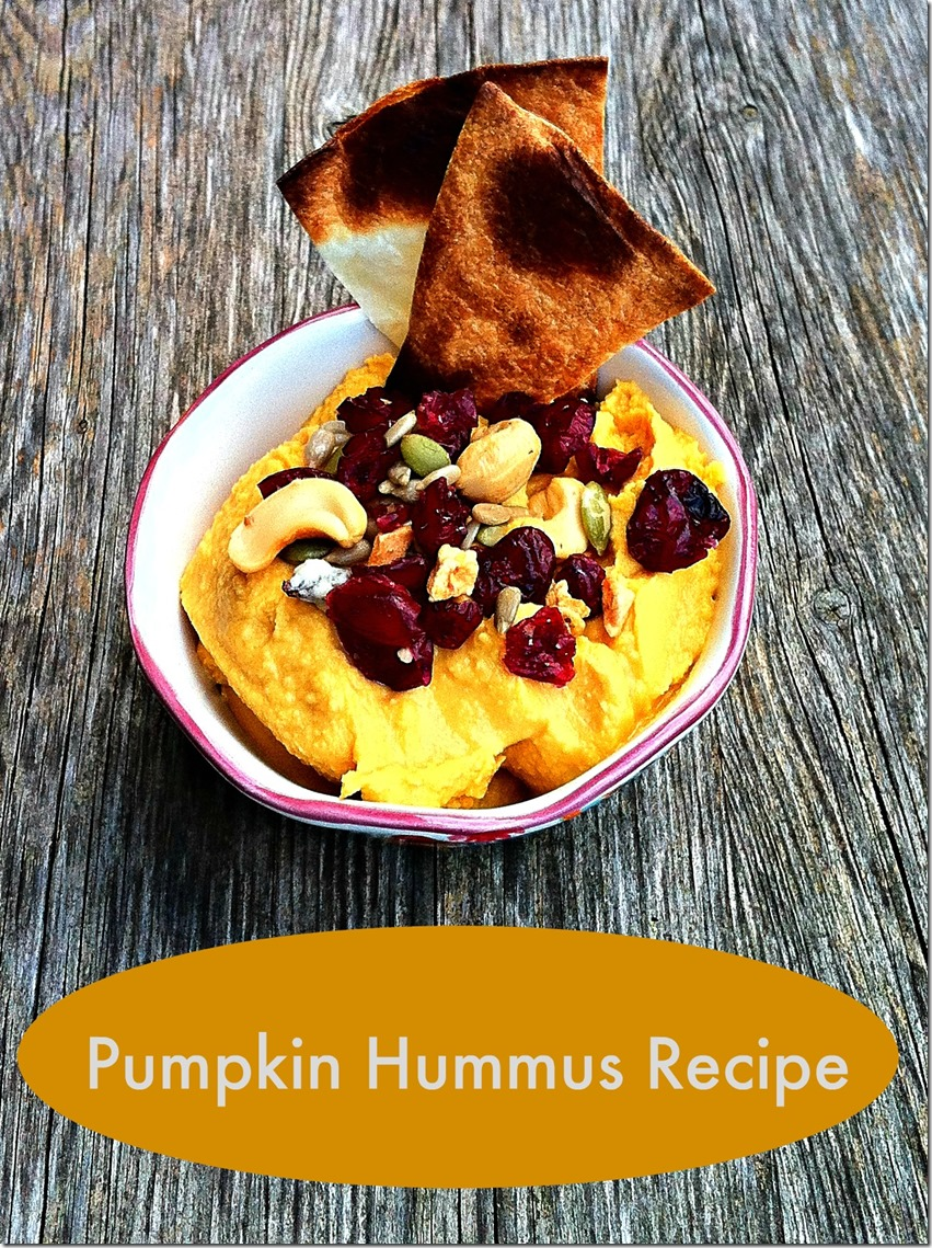 Pumpkin Hummus Recipe With Pita Crisps