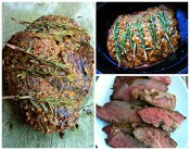 Red Wine Rosemary Garlic Butter Rub Marinated Sirloin Tip Roast Recipe