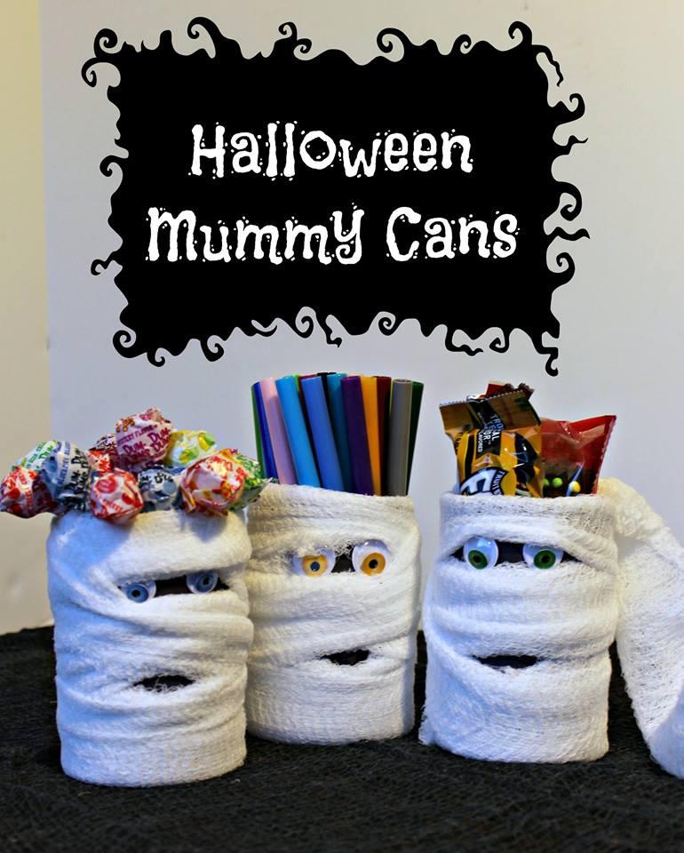Halloween Mummy Cans
