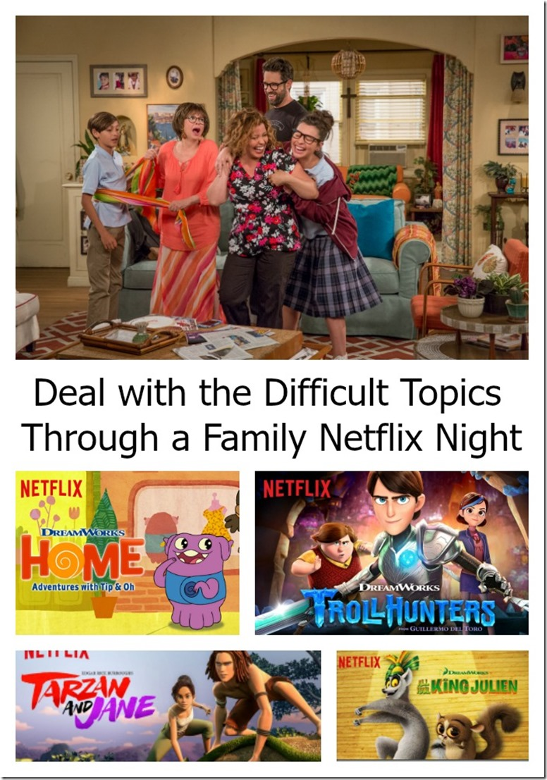 dealing with difficult topics through a family netflix night