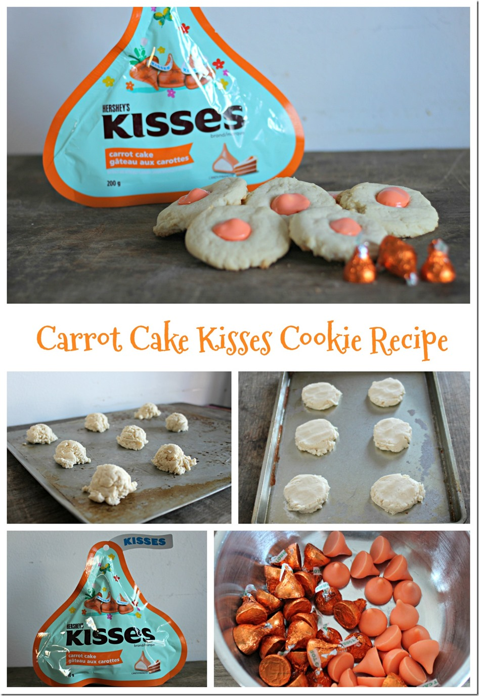 Carrot Cake Kisses Cookie Recipe