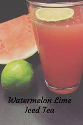 Watermelon Lime Iced Tea Recipe