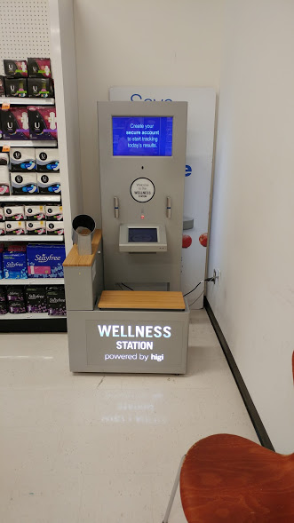 Use the Wellness Station to monitor your heart healthy life.