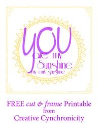 Free Printable: You are My Sunshine
