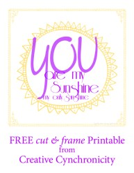 Free Printable: You are My Sunshine